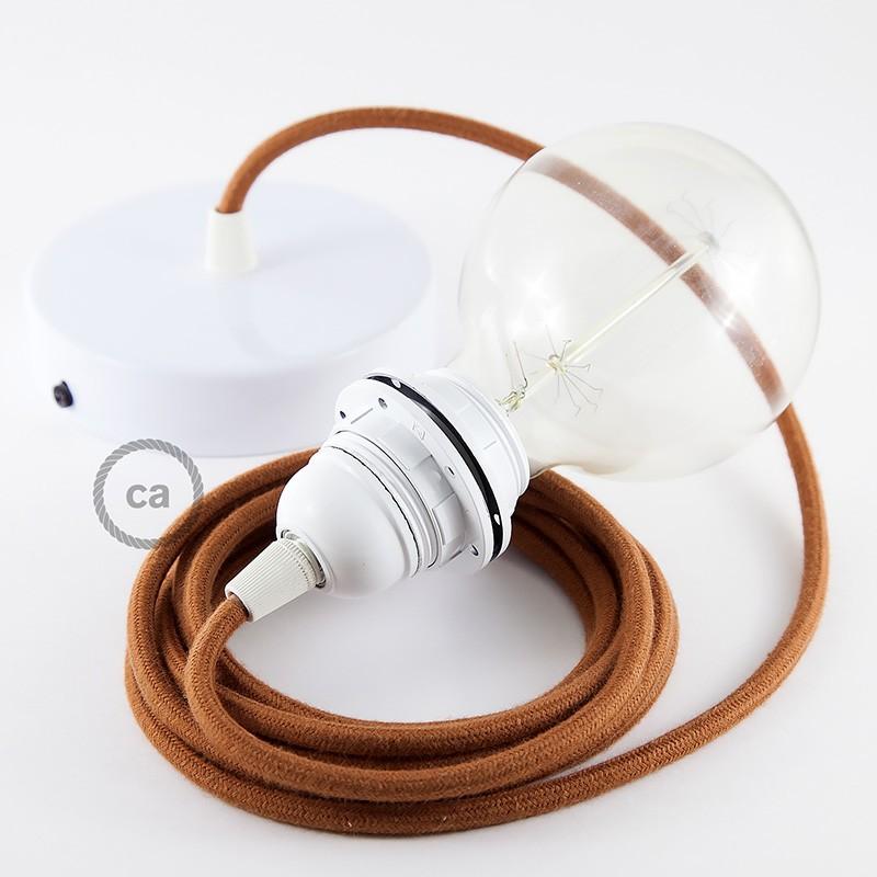 Lampe suspension pour abat jour c ble textile coton daim rc23 for Suspension pour lampe