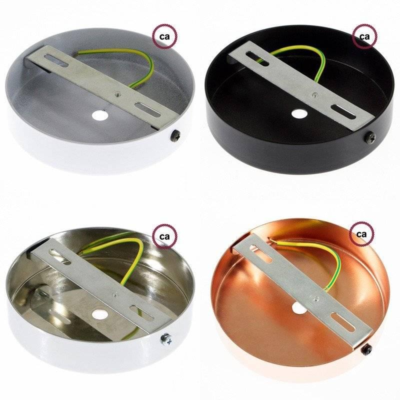 Lampe suspension pour Abat-jour câble textile Lin Naturel Gris TN02