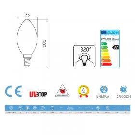 Ampoule LED Olive 4W E14 5000K Dépolie