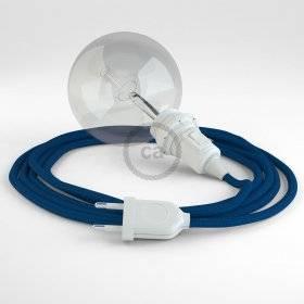 Créez votre Snake pour Abat-jour Effet Soie Bleu RM12 et apportez la lumière là où vous souhaitez.