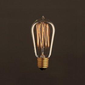 Ampoule Vintage Dorée Edison ST58 Filament Carbone en cage 30W E27 Dimmable 2000K