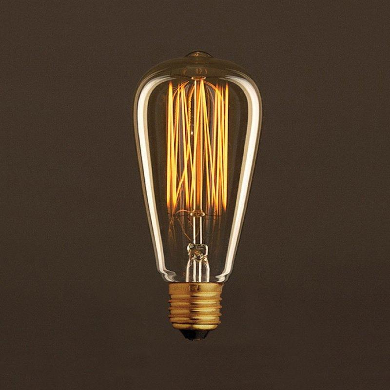ampoule vintage dor e edison st64 filament carbone en cage 30w e27 dimmable 2000k. Black Bedroom Furniture Sets. Home Design Ideas