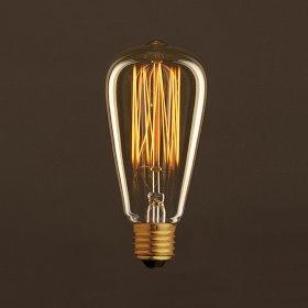 Ampoule Vintage Dorée Edison ST64 Filament Carbone en cage 30W E27 Dimmable 2000K