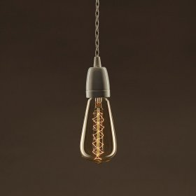 Ampoule Vintage Dorée Edison ST64 Filament Carbone en double spirale 30W E27 Dimmable 2000K