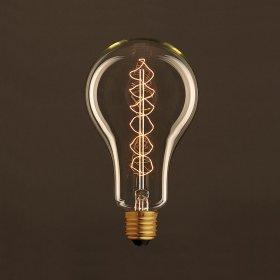 Ampoule Vintage Dorée Goutte A95 Filament Carbone a double spirale 30W E27 Dimmable 2000K