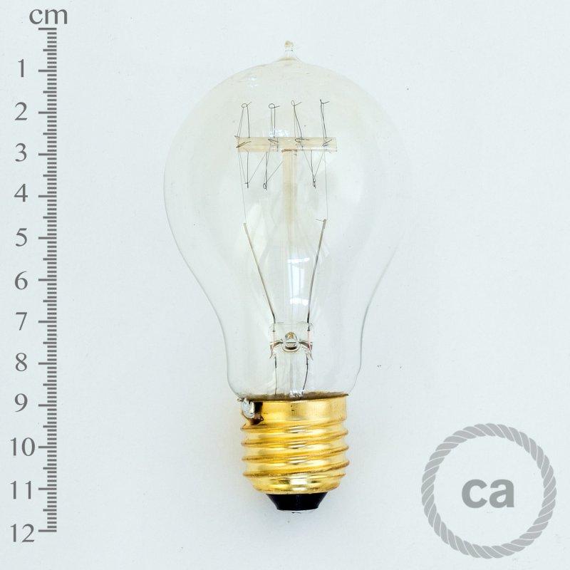 Ampoule Vintage Goutte PS60 A19 40W – filament de carbone