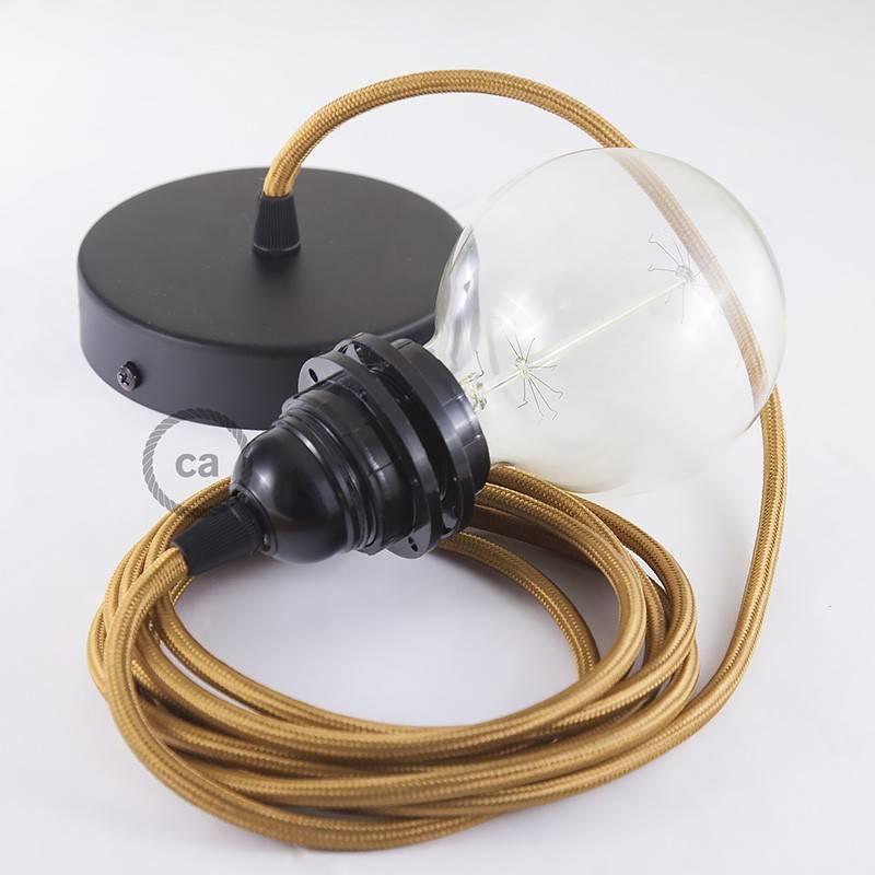 lampe suspension pour abat jour c ble textile effet soie whiskey rm22. Black Bedroom Furniture Sets. Home Design Ideas