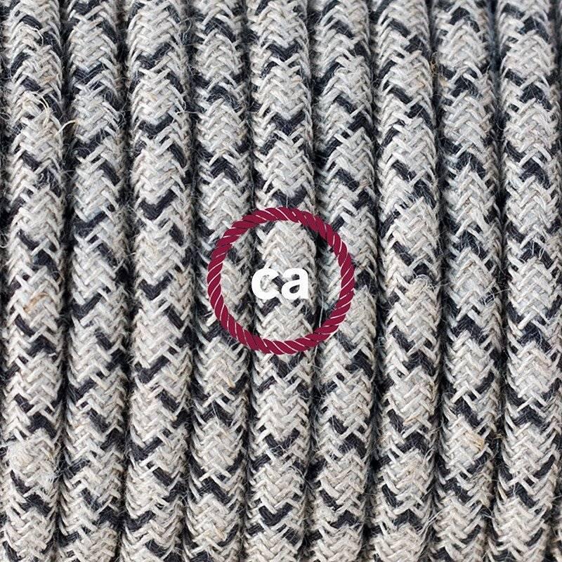 Lampe suspension pour Abat-jour câble textile Losange Anthracite RD64