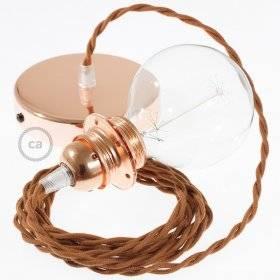Lampe suspension pour Abat-jour câble textile Coton Daim TC23