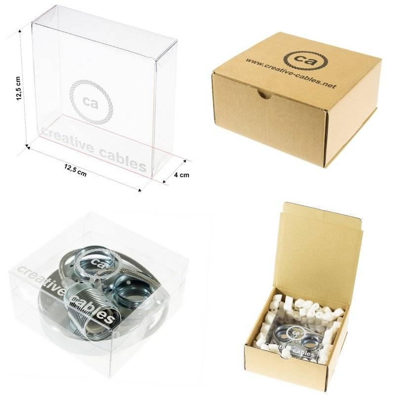 Lampe suspension en porcelaine câble textile Effet Soie Blanc TM01