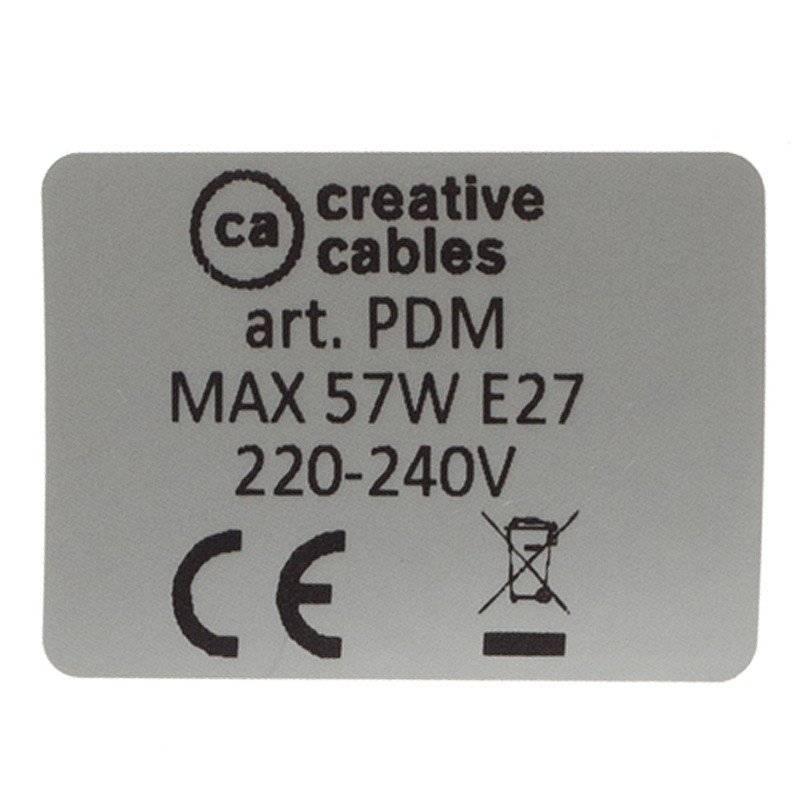 Lampe suspension pour Abat-jour câble textile Effet Soie Argent RM02