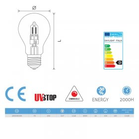 Ampoule Halo Goutte 70W E27 Dimmable
