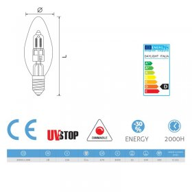 Ampoule Halo Olive 28W E14 Dimmable