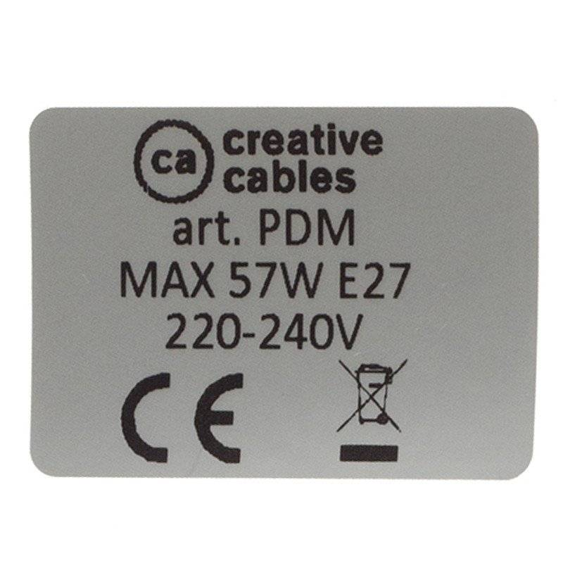 Lampe suspension pour Abat-jour câble textile Paillettes Noir RL04