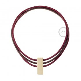 Collier Circles couleurs: Bordeaux RM19, Marron RM13 et Bordeaux RM19.