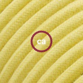 Rallonge électrique avec câble textile RC10 Coton Jaune Pastel 2P 10A Made in Italy.