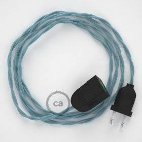 Rallonge électrique avec câble textile TC53 Coton Océan 2P 10A Made in Italy.