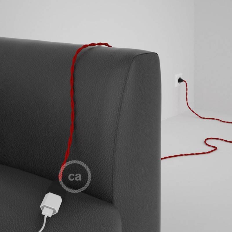 rallonge lectrique avec c ble textile tm09 effet soie. Black Bedroom Furniture Sets. Home Design Ideas
