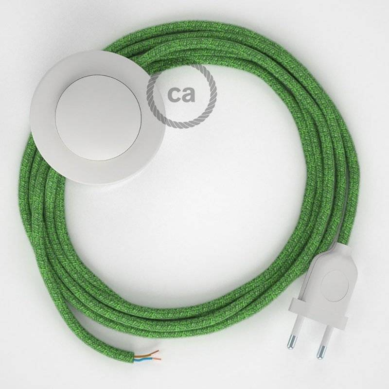 Cordon pour lampadaire, câble RX08 Coton Bronte 3 m. Choisissez la couleur de la fiche et de l'interrupteur!