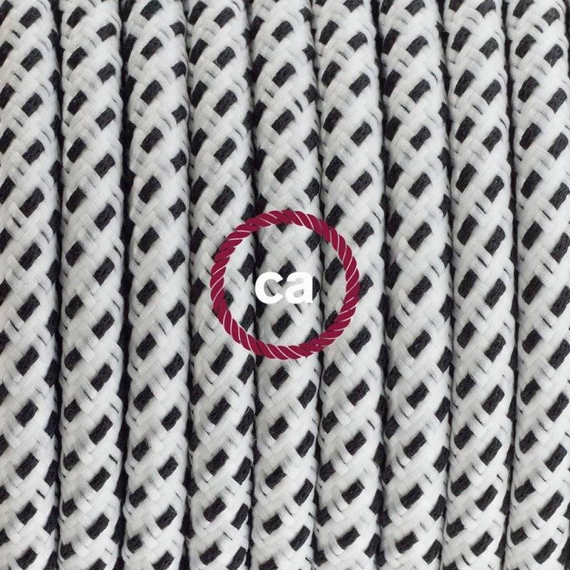Lampe suspension câble textile 3D Stracciatella RT14