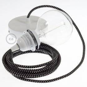 Lampe suspension pour Abat-jour câble textile 3D Étoiles RT41