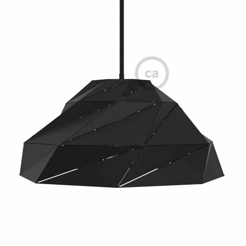 Abat-jour Nuvola en métal noir opaque avec douille E27