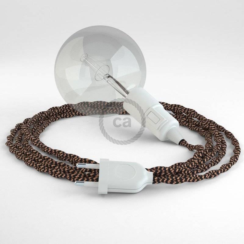 Créez votre Snake Effet Soie Noir e Whiskey TZ22 et apportez la lumière là où vous souhaitez.