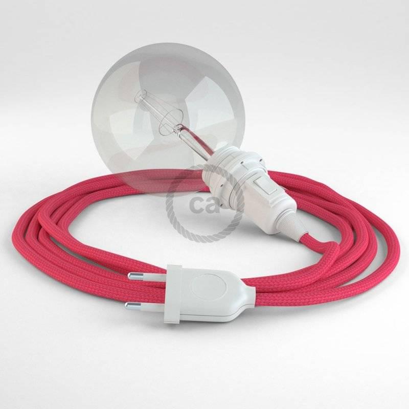 Créez votre Snake pour Abat-jour Effet Soie Fuchsia RM08 et apportez la lumière là où vous souhaitez.