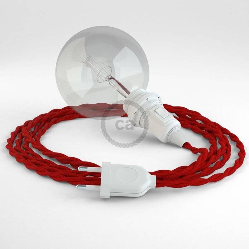 Créez votre Snake pour Abat-jour Effet Soie Rouge TM09 et apportez la lumière là où vous souhaitez.