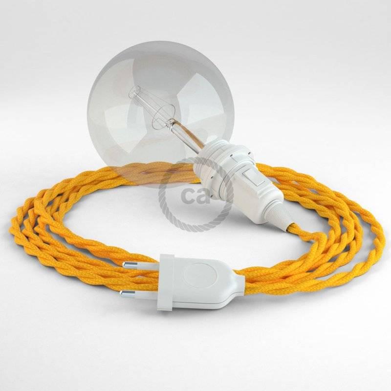 Créez votre Snake pour Abat-jour Effet Soie Jaune TM10 et apportez la lumière là où vous souhaitez.