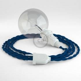 Créez votre Snake pour Abat-jour Effet Soie Bleu TM12 et apportez la lumière là où vous souhaitez.