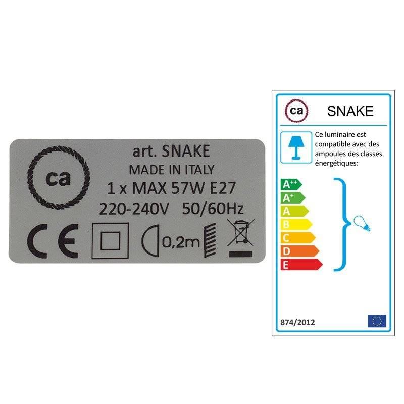 Créez votre Snake pour Abat-jour Coton Gris Pierre RC30 et apportez la lumière là où vous souhaitez.
