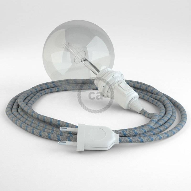Créez votre Snake pour Abat-jour Stripes Bleu Steward RD55 et apportez la lumière là où vous souhaitez.