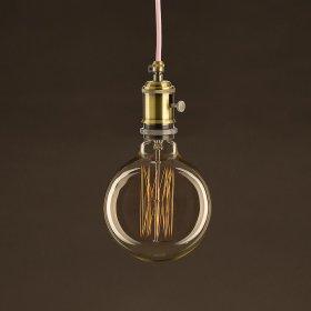 Ampoule Vintage Dorée Globe G125 Filament Carbone en cage 25 W E27 Dimmable 2000K