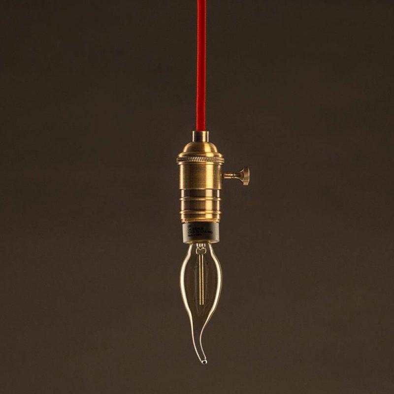 Ampoule Vintage Dorée Bougue C35 Filament Carbone ZigZag 30 W E27 Dimmable 2000K