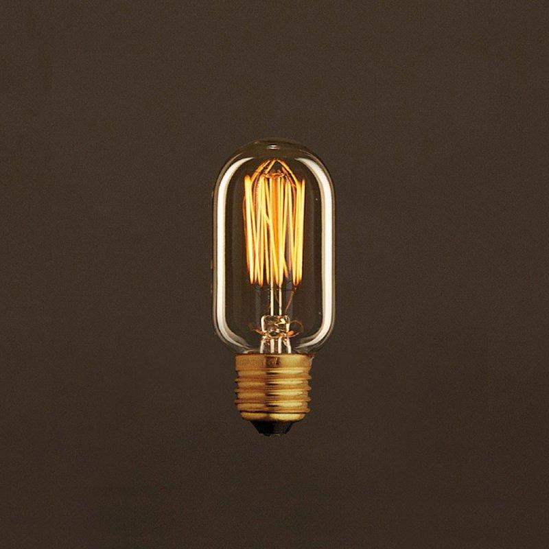 Ampoule Vintage Dorée Valve T45 Filament Carbone en cage 30W E27 Dimmable 2000K