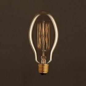 Ampoule Vintage Dorée Bougie E75 Filament Carbone en cage 30 W E27 Dimmable 2000K