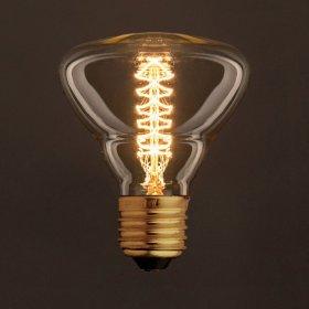 Ampoule Vintage Dorée BR95 Filament Carbone a double spirale 30W E27 Dimmable 2000K