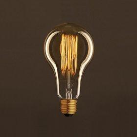Ampoule Vintage Dorée Goutte A95 Filament Carbone en cage 30W E27 Dimmable 2000K