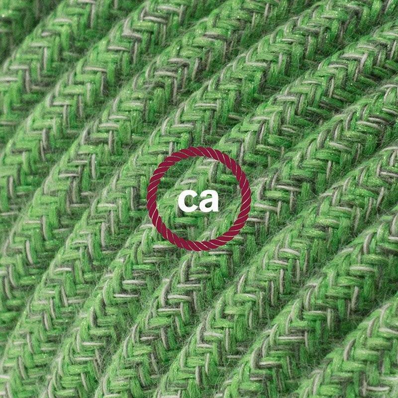 Rallonge électrique avec câble textile RX08 Coton Bronte 2P 10A Made in Italy.