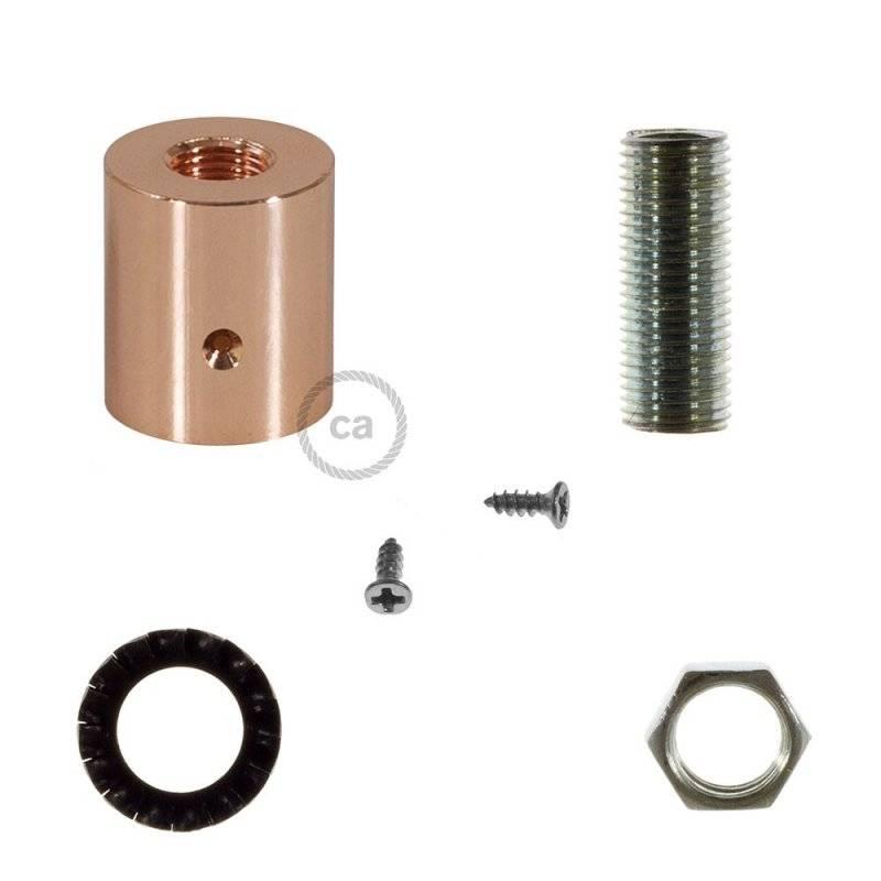 Raccord en métal cuivré pour Creative-Tube 16 mm, accessoires inclus