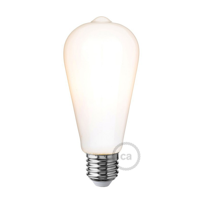 Ampoule led blanc lait edison st64 6w e27 dimmable 2700k - Ampoule led dimmable ...