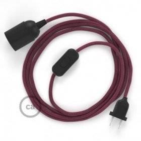 SnakeBis cordon avec douille et câble textile Coton Marc De Raisin RC32