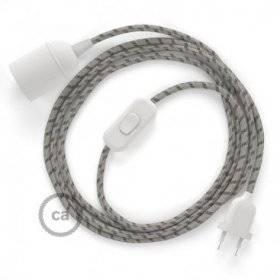 SnakeBis cordon avec douille et câble textile Stripes Écorce RD53