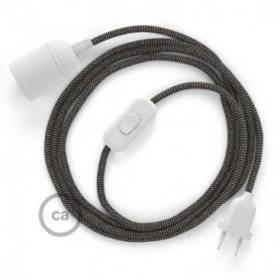 SnakeBis cordon avec douille et câble textile ZigZag Anthracite RD74