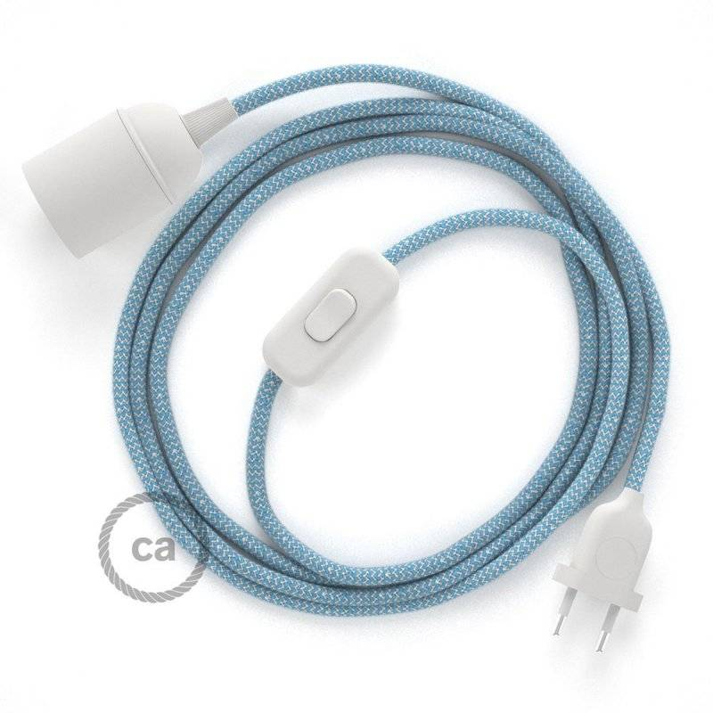 SnakeBis cordon avec douille et câble textile ZigZag Bleu Steward RD75