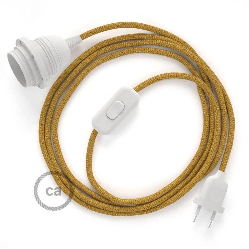 SnakeBis cordon avec douille et câble textile Paillettes Or RL05