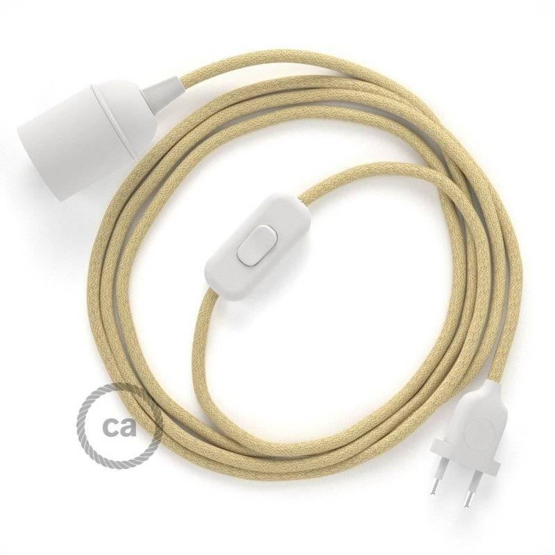 SnakeBis cordon avec douille et câble textile Jute RN06