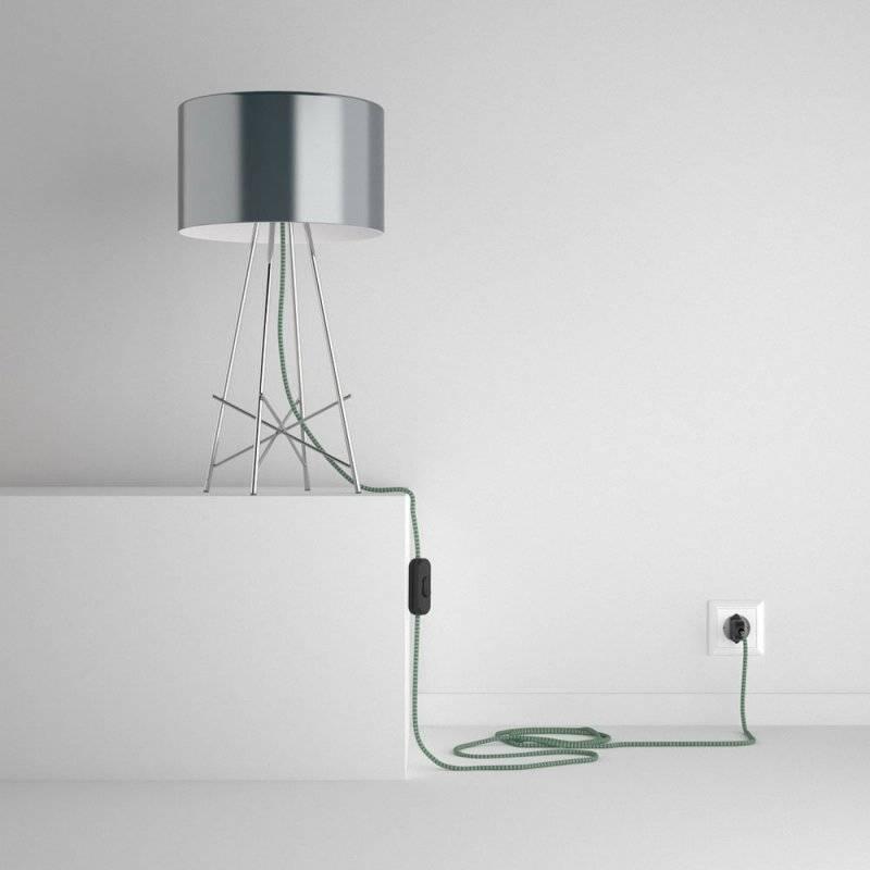 SnakeBis cordon avec douille et câble textile ZigZag Vert RZ06