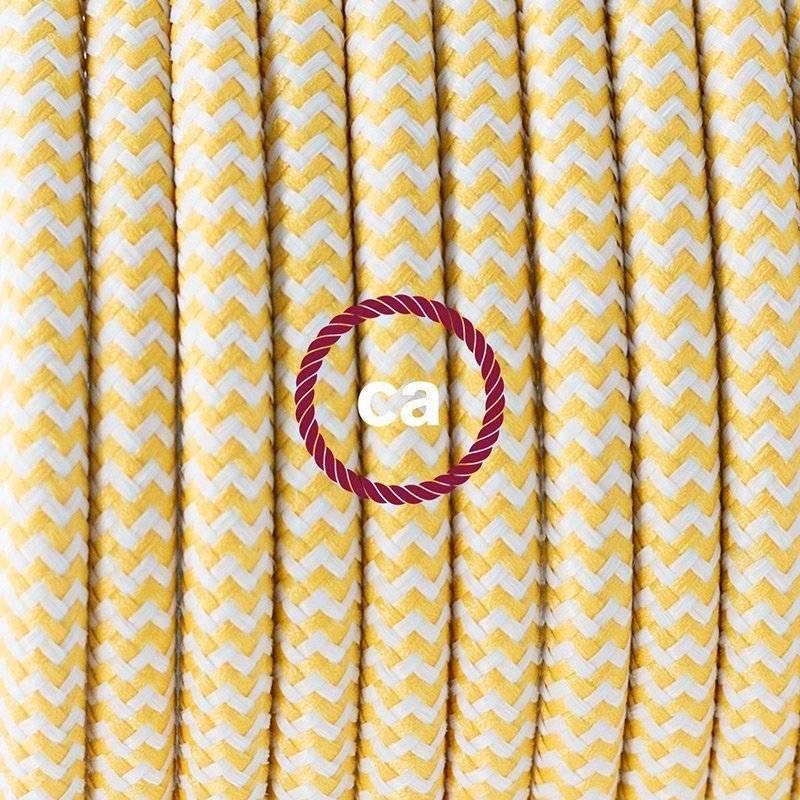 SnakeBis cordon avec douille et câble textile ZigZag Jaune RZ10